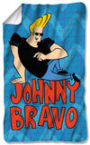 Johnny Bravo - Logo Repeat Fleece Blanket Fleece Blanket