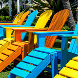 Chairs Color - Key West - Florida Photographic Print by Philippe Hugonnard