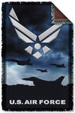 Air Force - Take Off Woven Throw Throw Blanket