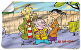 Ed Edd N Eddy - Backyard Boys Fleece Blanket Fleece Blanket