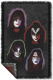 KISS - Solo Heads Woven Throw Throw Blanket