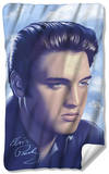 Elvis - Big Portrait Fleece Blanket Fleece Blanket