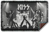 KISS - Staged Woven Throw Throw Blanket