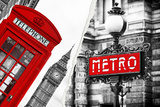 Dual Torn Posters Series - London - Paris Photographic Print by Philippe Hugonnard