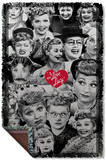 I Love Lucy - Faces Woven Throw Throw Blanket