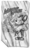 Mighty Mouse - Sketch Fleece Blanket Fleece Blanket