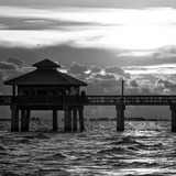 Fishing Pier Fort Myers Beach at Sunset Photographic Print by Philippe Hugonnard