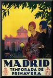 Madrid, Spain - Madrid in Springtime Travel Promotional Poster Mounted Print by  Lantern Press