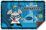 Dexters Lab - Lab Woven Throw Throw Blanket