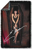 Elvira - Coffin 3 Woven Throw Throw Blanket