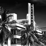 Art Deco Architecture of Miami Beach - The Esplendor Hotel Breakwater South Beach - Ocean Drive Fotografisk tryk af Philippe Hugonnard