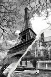 Dual Torn Posters Series - Paris - France Fotografisk tryk af Philippe Hugonnard