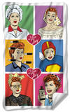 I Love Lucy - Comic Fleece Blanket Fleece Blanket