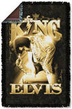 Elvis - The King Woven Throw Throw Blanket