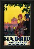 Madrid, Spain - Madrid in Springtime Travel Promotional Poster Poster by  Lantern Press