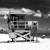 Life Guard Station - South Beach - Miami - Florida - United States Lámina fotográfica por Philippe Hugonnard