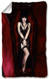 Elvira - Coffin Fleece Blanket Fleece Blanket