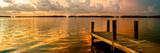 Wooden Jetty at Sunset Fotografisk tryk af Philippe Hugonnard