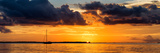 Sunset Landscape with a Yacht - Miami - Florida Photographic Print by Philippe Hugonnard