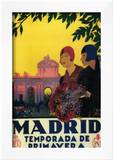 Madrid, Spain - Madrid in Springtime Travel Promotional Poster Prints by  Lantern Press