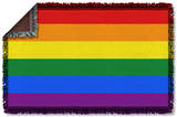 Pride Flag Woven Throw Throw Blanket