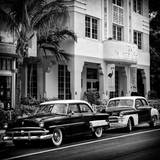 Classic Cars on South Beach - Miami - Florida Photographic Print by Philippe Hugonnard