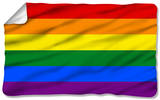 Pride Flag Fleece Blanket Fleece Blanket