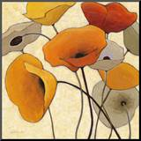 Pumpkin Poppies III Mounted Print by Shirley Novak