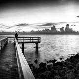 Pier at Sunset Photographic Print by Philippe Hugonnard