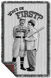 Abbott & Costello - First Woven Throw Throw Blanket