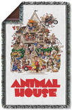 Animal House - Poster Woven Throw Throw Blanket