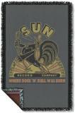 Sun - Sun Rooster Woven Throw Throw Blanket