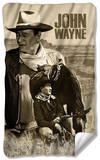 John Wayne - Stoic Cowboy Fleece Blanket Fleece Blanket