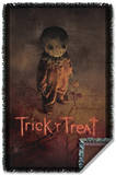 Trick R Treat - Poster Woven Throw Throw Blanket