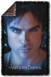 Vampire Diaries - Damon Eyes Woven Throw Throw Blanket