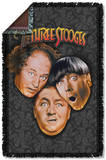 Three Stooges - Stooges All Over Woven Throw Throw Blanket
