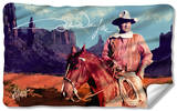 John Wayne - Monument Man Fleece Blanket Fleece Blanket