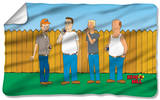 King Of The Hill - By The Fence Fleece Blanket Fleece Blanket