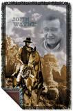 John Wayne - Ride Em Cowboy Woven Throw Throw Blanket