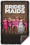 Bridesmaids - Poster Woven Throw Throw Blanket