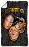 Three Stooges - Stooges All Over Fleece Blanket Fleece Blanket