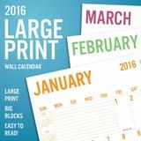 Large Print - 2016 Calendar Calendars