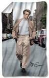 James Dean - Colorful Walk Fleece Blanket Fleece Blanket