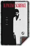 Scarface - Poster Woven Throw Throw Blanket