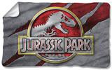 Jurassic Park - Slash Logo Fleece Blanket Fleece Blanket