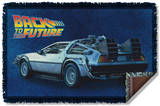 Back To The Future - Delorean Woven Throw Throw Blanket
