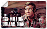Six Million Dollar Man - Steve Austim Fleece Blanket Fleece Blanket