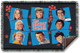 Brady Bunch - Squares Woven Throw Throw Blanket