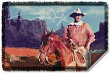 John Wayne - Monument Man Woven Throw Throw Blanket