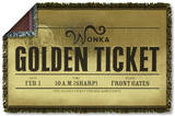 Charlie And The Chocolate Factory - Golden Ticket Woven Throw Throw Blanket
